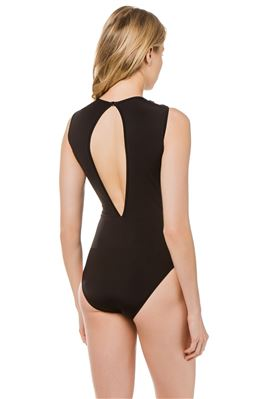 Irene Tie Front High Neck One Piece Swimsuit