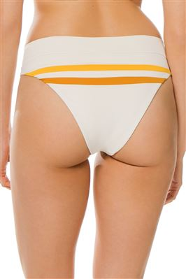 High Leg Banded Brazilian Bikini Bottom