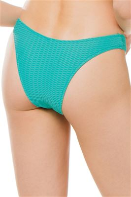 Textured V-Cut Brazilian Bikini Bottom