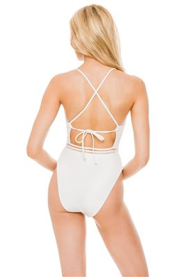 Over The Shoulder One Piece Swimsuit