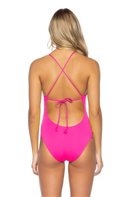 Criss Cross Plunge One Piece Swimsuit