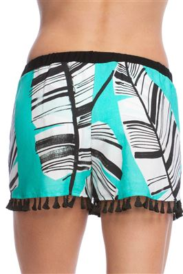 Tassel Trim Cover Shorts