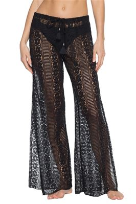 Lace Side Slit Cover Pants