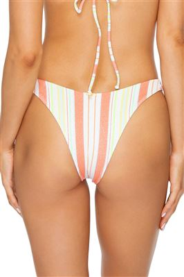 Reversible Ribbed High Leg Brazilian Bikini Bottom