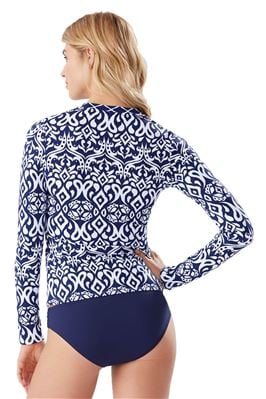 Full Zipper Long Sleeve Rash Guard