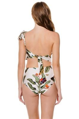 Asymmetrical Cutout One Piece Swimsuit