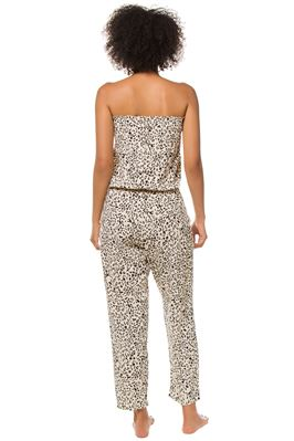 Hailey Strapless Cheetah Print Jumpsuit