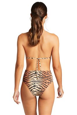 Gia Reversible Tiger Stripe Sliding Triangle Bikini Top