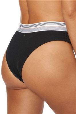 Jogger Ribbed Banded High Waist Bikini Bottom