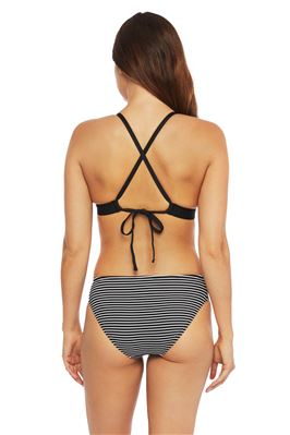Tie Back Banded Triangle  Bikini Top