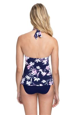 Floral Halter Tankini Top