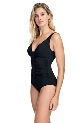 Shirred Over The Shoulder One Piece Swimsuit (E Cup)