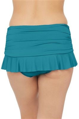 Shirred Flirty Skirted Hipster Bikini Bottom