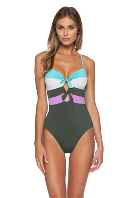 Eleanor Bandeau One Piece Swimsuit