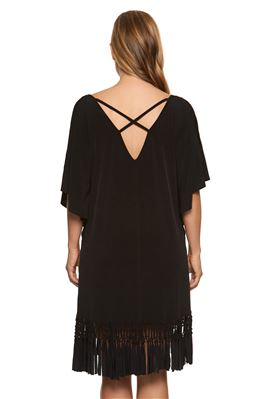 Cold Shoulder Fringe Tunic