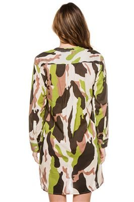Yucatan Camo Shirt Dress