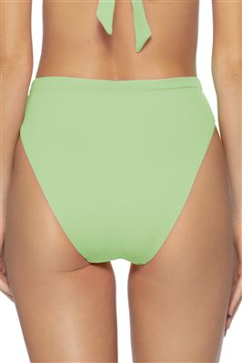 Danielle Ribbed High Waist Brazilian Bikini Bottom