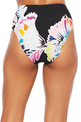 Tortoise Belted High Waist Bikini Bottom