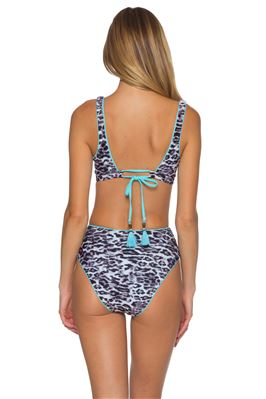 Olivia Animal Print Square Neck Bikini Top