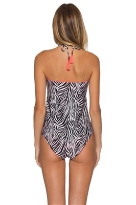 Addison Animal Print Handkerchief Tankini Top