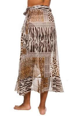 Multi Animal Print Pareo