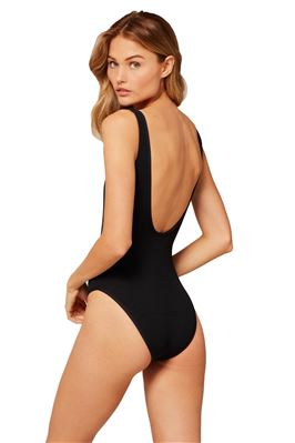 Ribbed Float On Over The Shoulder One Piece Swimsuit