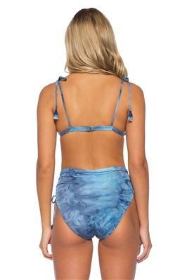 Tie Dye Shoulder Tie Triangle Bikini Top