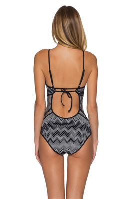 Aurora Crochet High Neck One Piece Swimsuit