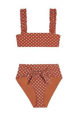 Riviera Polka Dot High Waist Bikini Bottom