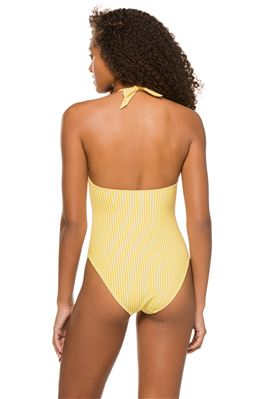 Thalia Cutout Halter One Piece Swimsuit