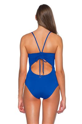 Shirred Cutout One Piece Swimsuit