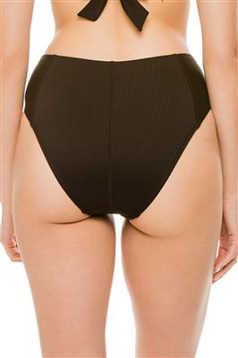 Ribbed High Waist Bikini Bottom