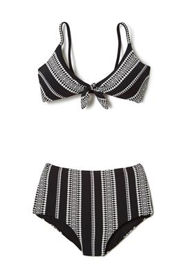 Luchia Bow Tie High Waist Bikini Bottom