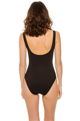 Ruched Underwire Over The Shoulder One Piece Swimsuit