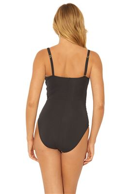 Shirred Twist Mio One Shoulder One Piece Swimsuit