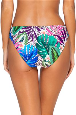 Femme Fatale Shirred Tab Side Bikini Bottom