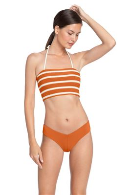 Striped Bandeau Bikini Top