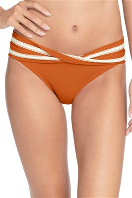 Twist Front Banded Hipster Bikini Bottom