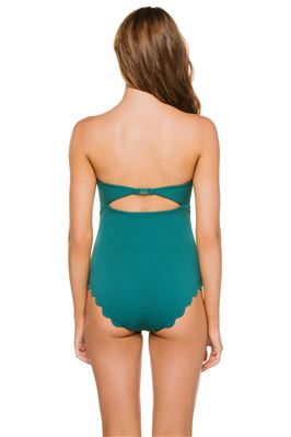 Scallop Bandeau One Piece Swimsuit