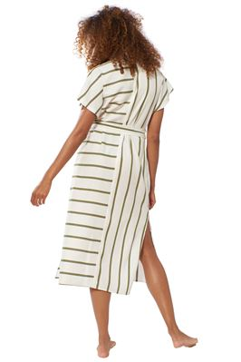 Shay Striped Button Down Shirt Dress
