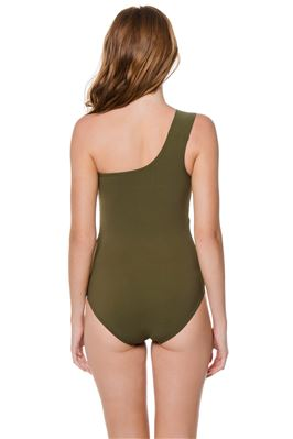 Adjustable One Shoulder One Piece Swimsuit