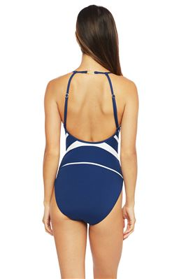 High Neck Underwire One Piece Swimsuit