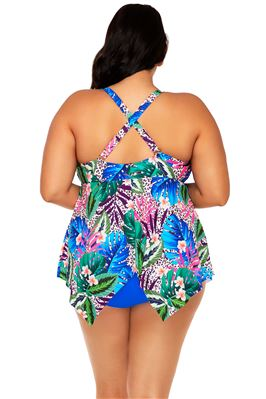 Savannah Keyhole Over The Shoulder Tankini Top