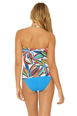 Shirred Bandeau Tankini Top