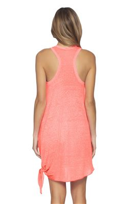 Neon Tie Side Tank Dress
