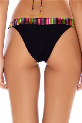 Neon Ribbed Reversible Brazilian Bikini Bottom