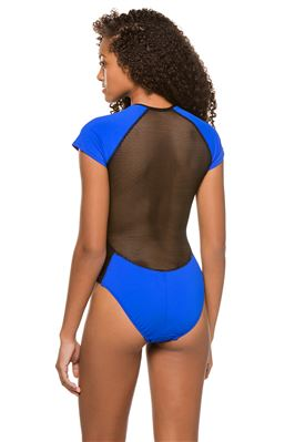 Scuba Zipper Front One Piece Swimsuit