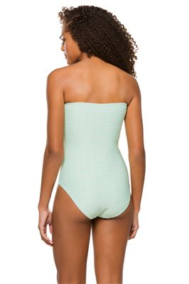 Marie Tie Front Bandeau One Piece Swimsuit