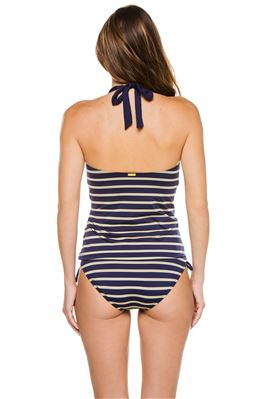 Chloe Striped Halter Tankini Top