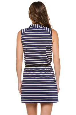 Sanibel Sleeveless Striped Short Dress